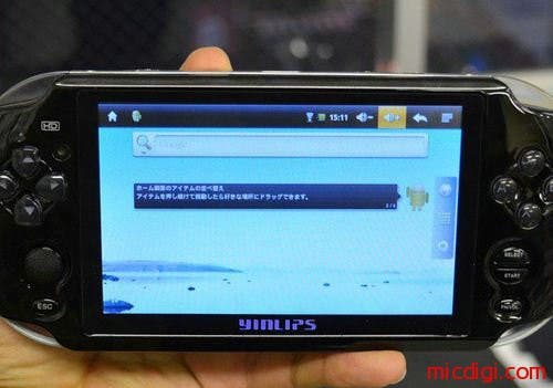 Yinglip PSV Sony PSV knock off with 5 inch screen and Android 2.2