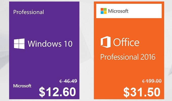 Microsoft Windows 10 Pro at Only $12.60 and More (with Coupon)
